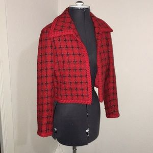 Vintage Couture crop coat London Small medium